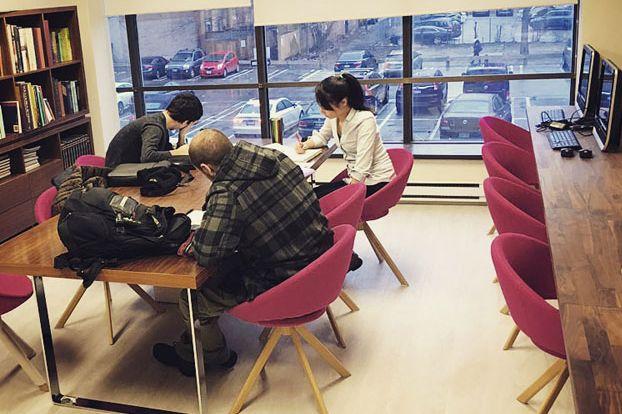 Mentora Language Academy has quiet places to study on campus.
