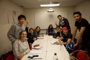 Mentora Language Academy Toronto students learn and make new friends together and come from all over the world, and learn English together