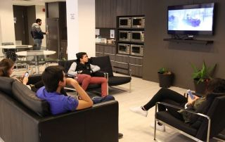 Mentora Language Academy Toronto students can relax and be social on campus too